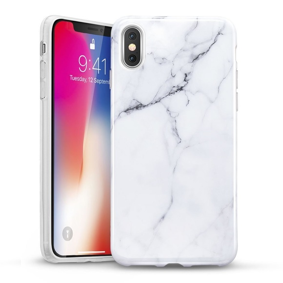 new styles 8edd6 64a74 iPhone XS Max / XR / XS Marble Case White New